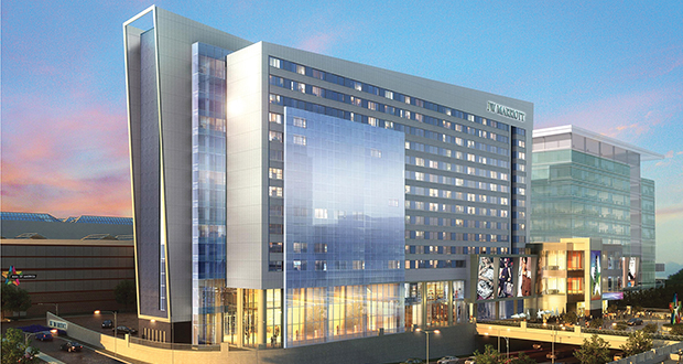 JW Marriott has teamed up with Mortenson Development on a 342-room hotel and office tower on the Mall of America's north side in Bloomington. (Submitted Rendering)