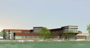 This rendering shows the design Prairie Care has commissioned for a 72,000-square-foot, 50-bed psychiatric hospital it plans to operate at 9348 Zane Ave. N., in Brooklyn Park. (Submitted photo: Pope Architects)