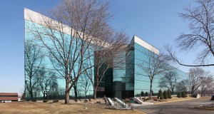 This four-story office building at 7100 Northland Circle N. in Brooklyn Park sold for $8.6 million in 1999, but now, with more than half its space empty, the building brought only $2.5 million in a sale to Minneapolis-based Hempel. (Submitted photo: CoStar)