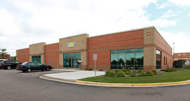 The owners of Eden Prairie-based Foss Swim School have entered a nearly $2.7 million sale-leaseback deal for this center at 9455 Garland Lane, Maple Grove, a move designed to help the company continue adding locations in Minnesota and Illinois. (Submitted photo: CoStar)