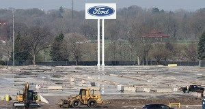 Ford Motor Co.'s shuttered Twin Cities Assembly Plant at 966 S. Mississippi River Blvd. is down to concrete slabs. (Staff photo: Bill Klotz)
