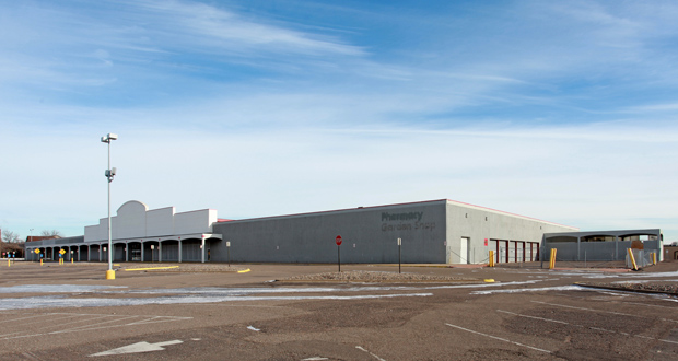 The city of New Hope bought and demolished a former Kmart building at 4300 Xylon Ave. N. The property is expected to be redeveloped as a Hy-Vee grocery store. (Submitted photo: CoStar)