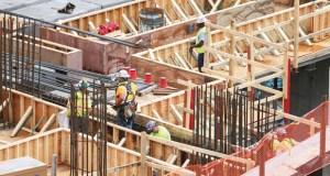 Work is underway June 18 at the site of the new Minnesota Vikings football stadium in downtown Minneapolis. (File photo: Bill Klotz)