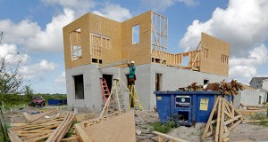 This May 15, 2014 photo shows new home under construction in the Winthrop sub-division in Riverview, Fla.  (AP file photo)