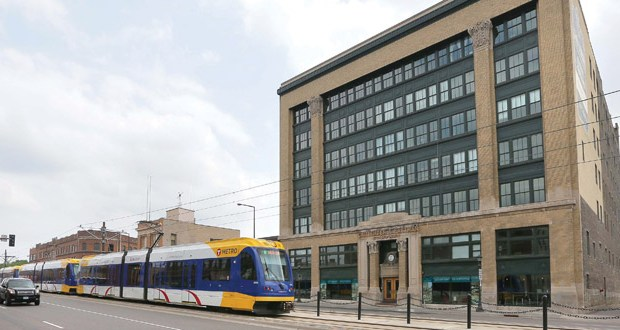 One of C&E Lofts' main pitches to tenants is its proximity to the Green Line. As of January, Ramsey County assessed the property's market value at $11.435 million. (File photo:Bill Klotz)