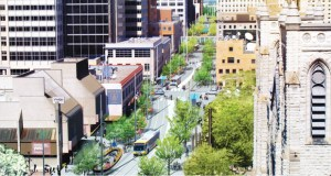 The Minneapolis City Council on Friday approved the issuance of a construction manager request for proposals for the $50 million makeover of Nicollet Mall from Grant Street to Washington Avenue. (Submitted rendering: James Corner Field Operations)