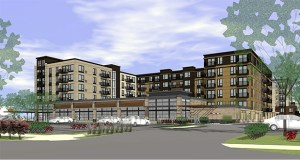 A unit of Lennar Corp. paid $6.08 million for a site near Southdale Center in Edina, where it plans to build a 242-unit apartment building. (Submitted rendering)
