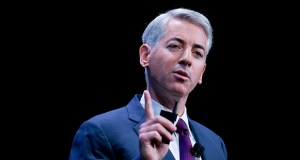Pershing Square, run by billionaire Bill Ackman, above, seeks damages, disgorgement and restitution for what it calls an illegal taking of property by the government. (File photo)