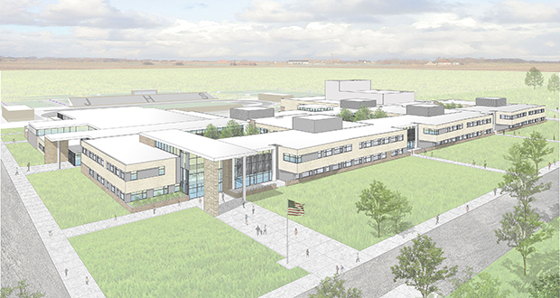 Stahl Construction will break ground in September on this 369,000-square-foot high school in Johnston, Iowa. (Submitted rendering: Perkins+Will)
