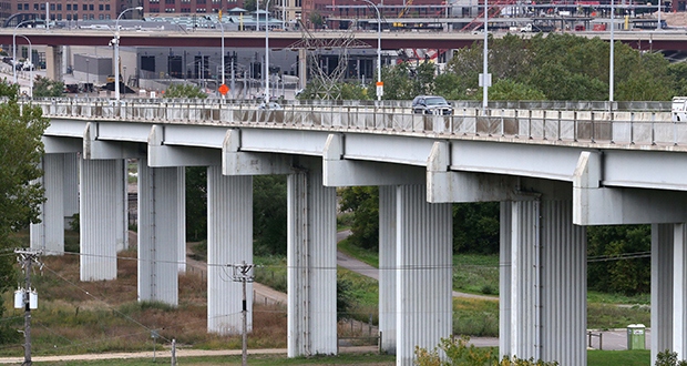 The city of St. Paul is trying to come up with money to replace the Kellogg Boulevard-Third Street Bridge. (Staff photo: Bill Klotz)