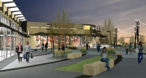 Elion Partners and Kraus-Anderson plan to redevelop the former State Farm site in Woodbury into a 700,000-square-foot, mixed-use campus with shopping, restaurants, a hotel and office space. (Submitted rendering: RSP Architects)