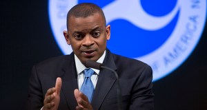 """Folks that are planning commuter rail projects, light rail projects, streetcar projects, bus rapid transit projects … they don't know what tomorrow looks like,"" U.S. Transportation Secretary Anthony Foxx said Tuesday. (Bloomberg file photo)"
