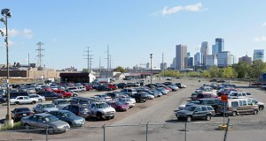 Minneapolis is considering re-sizing, rather than relocating, its impound lot at 51 Colfax Ave. N. The impound lot is near a future stop on the Southwest Light Rail Transit line. (Staff photo: Bill Klotz)