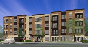 Linden Hills Apartments LLC is developing a four-story apartment complex at 4525 France Ave. S. in Minneapolis. (Submitted rendering: ESG Architects)
