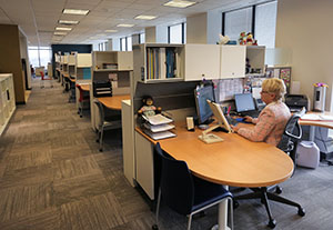 TKDA's newly renovated headquarters, including this office area on the 15th floor of UBS Plaza, 444 Cedar St., St. Paul, accommodates about 200 employees. (Staff photo: Bill Klotz)