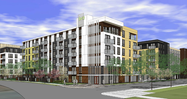 Lennar Multifamily Communities is readying construction on a 394-unit apartment complex at 8001 33rd Ave. S. in Bloomington. (Submitted rendering: ESG Architects)
