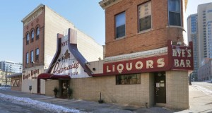 Developers are planning to preserve the Harness Room building (second from left) and corner bar building (right) on the Nye's Polonaise site at 116 E. Hennepin Ave. in Minneapolis. (File photo: Bill Klotz)