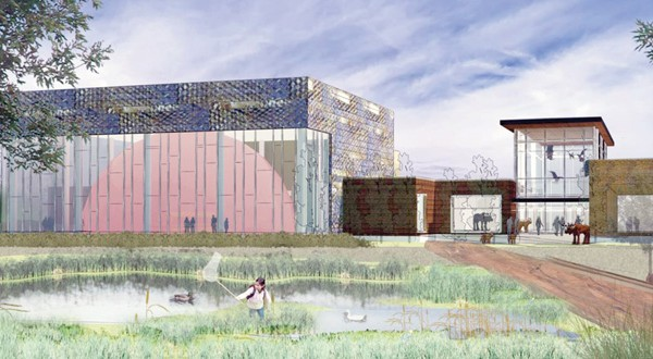 ESG handled the preliminary design for the new Bell Museum of Natural History and Planetarium planned at the southwest corner of Larpenteur and Cleveland avenues in St. Paul, on the edge of the University of Minnesota campus. (Submitted rendering: ESG)