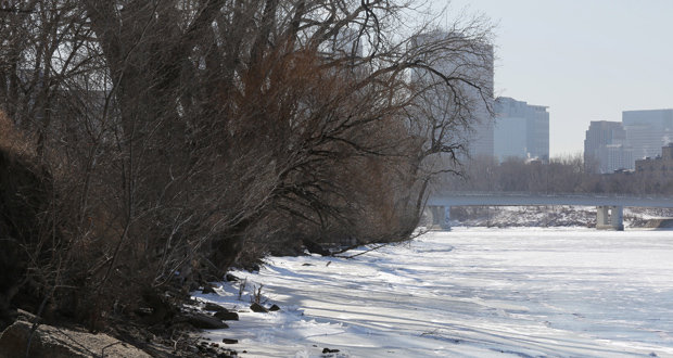 In order to build a trail along the Mississippi River in northeast Minneapolis, the Park Board may condemn 1.87 acres of land owned by Graco Inc. (Staff photo: Bill Klotz)