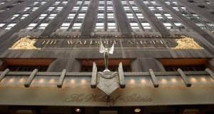 Hilton Worldwide Holdings Inc. used the proceeds from its sale of New York's Waldorf Astoria, shown above, to buy five hotels in other markets for $1.76 billion. (Bloomberg News Photo:  Daniel Acker)