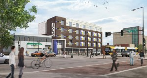 The Beacon Interfaith Housing Collaborative plans 44 studio units at 1949 W. University Ave. on the Green Line in St. Paul. (Submitted rendering: Cermak Rhoades Architects)