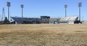 A joint venture that includes the St. Paul Port Authority and Bloomington-based United Properties plans to start site work soon for the redevelopment of this former Midway Stadium property at 1771 Energy Park Drive. (Staff photo: Bill Klotz)