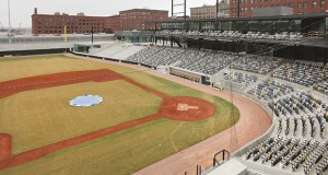 CHS Field in St. Paul is empty for now, but it will be a busy place when the St. Paul Saints take the field May 21 for their first game at the new $63 million ballpark. (Staff photo: Bill Klotz)