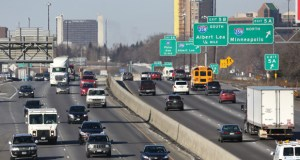 The governor's office includes the Interstate 35W and Interstate 494 interchange in Bloomington in a list of 600 projects throughout the state that would be completed if a new comprehensive transportation funding package passes this session. (Staff photo: Bill Klotz)