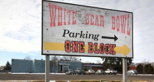The former White Bear Bowl, at 1600 Cedar Ave. in White Bear Lake, will be torn down this year to make way for a 136-unit senior housing building. (Staff photo: Bill Klotz)