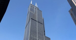 The Willis Tower stands in Chicago on Feb. 13, 2013. The building, once the world's tallest, is being sold and may fetch around $1.5 billion. (Bloomberg File Photo)