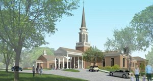 Stahl Construction has started an $8.2 million restoration of Wayzata Community Church in Wayzata as envisioned in this image. (Submitted rendering: RRTL)