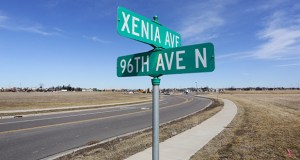 The Opus Development Company purchased a little more than 50 acres of vacant land near Highway 610 in Brooklyn Park. The intersection of Xenia Avenue and 96th Ave. N. is part of the site. (Staff photo: Bill Klotz)