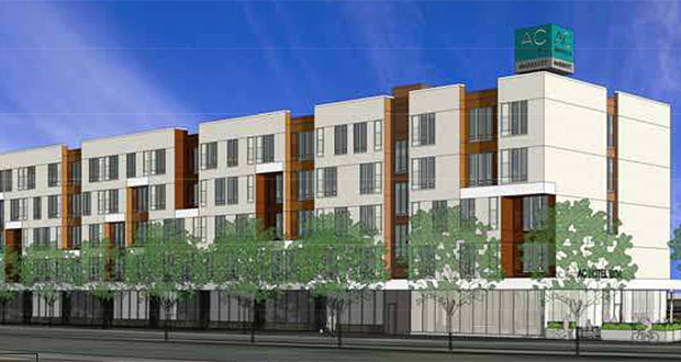 Utah-based Terratron expects to start construction this summer on a 148-room AC Hotel by Marriott on the southeast quadrant of 24th Avenue and Lindau Lane, east of the Mall of America. (Submitted rendering: ESG Architects)