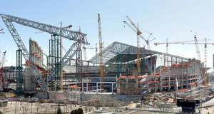 The Minnesota Vikings are adding about $1.2 million to the construction budget for their new stadium under construction in downtown Minneapolis. The total project budget is now $1.062 billion. (File photo: Bill Klotz)