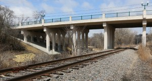 A light rail station below the Plymouth Avenue Bridge near Theodore Wirth Park would serve several north Minneapolis neighborhoods. Another option is under study at Golden Valley Road. (Staff photo: Bill Klotz)