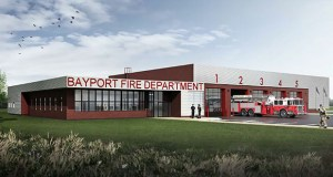 Bayport's new fire station, as seen in this submitted rendering, will replace a smaller 1940s-era structure when it opens in March 2016. (Submitted rendering: Leo A Daly)