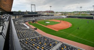 The St. Paul Saints held open tryouts Thursday at the new CHS Field in the Lowertown area of St. Paul. On the same day, more than 200 people attended a lunch inside the ballpark that was hosted by the St. Paul Area Chamber of Commerce. (Photo: Craig Lassig)
