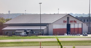 Burns & McDonnell's Minneapolis office is inspecting and evaluating more than 250 Air National Guard hangars throughout the U.S., including this facility for the 133rd Airlift Wing at the Minneapolis-St. Paul International Airport. (Staff photo: Bill Klotz)