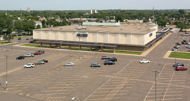 The 14-acre Sears property is one of two redevelopment sites mentioned as a potential home for a Major League Soccer stadium. The site, at 401 Rice St. in St. Paul, is near a Green Line station and the State Capitol. (Staff photo: Bill Klotz)