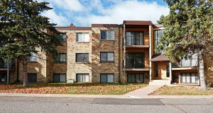 The 72-unit Fountain Terrace apartments at 691 First Ave. NW in New Brighton were originally developed as student housing for nearby Bethel University. (Submitted photo: CoStar)