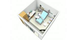 Here's a typical treatment room for Abbott Northwestern's emergency department once a $28 million renovation is completed. (Submitted rendering: HGA)