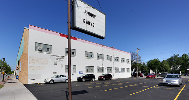 The owners of Johnny Baby's restaurant at 981 University Ave. W. in St. Paul have proposed creating a public park and plaza in an underutilized parking lot near their restaurant. (Staff photo: Bill Klotz)