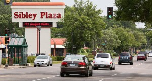 The Sibley Plaza retail center at 2401 W. Seventh St. in St. Paul will be redeveloped into a new shopping center with 120 apartments. The intersection at Davern Street is one of six opportunity sites along the Riverview Corridor. (Staff photo: Bill Klotz)