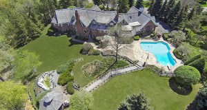 Just how big is a 12,931-square-foot home? This aerial photo gives some perspective on the home at 1205 French Creek Drive in Orono, which sold recently for $2.25 million. (Submitted photo: LandMark Photography)