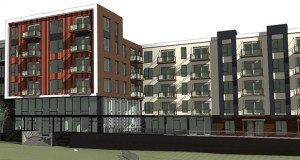 Commercial Investment Properties, a Nebraska-based developer, hopes to start construction this spring on this 179-unit market-rate apartment building at 5650 American Blvd. in Bloomington. (Submitted rendering: ESG Architects)