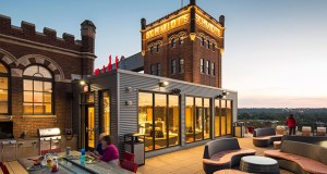 The Schmidt Artist Lofts project offers tenants a rooftop deck and clubroom. (Submitted images: Dominium)