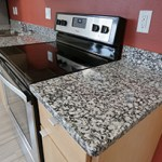 Countertops in units of The Rose are made of a type of granite that contains no radium or uranium. Aeon is using sustainable materials throughout the mixed-income complex in Minneapolis. (Staff photo: Bill Klotz)