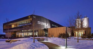 The architecture of the Surly Destination Brewery is intended to reflect the industrial history of the site while also focusing on its indoor and outdoor amenities. (Submitted photo)