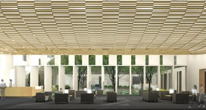 Temple Israel's $21.1 million remodel and expansion project includes a new lobby, which will feature 12 windows representing the 12 tribes of Israel. (Submitted rendering: HGA/Temple Israel)