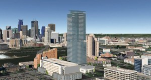 Developer Bob Lux says he hopes to break ground next year on a new residential tower at 200 Central Ave. SE in Minneapolis. (Submitted rendering: Humphreys & Partners Architects)